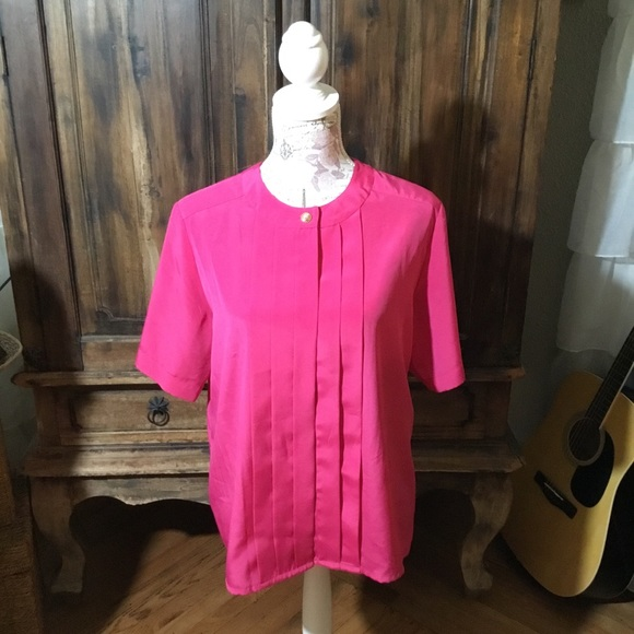 Tops - Magenta Business Blouse